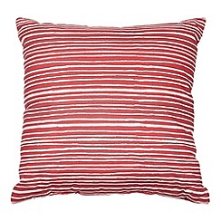Home Collection Basics - Red striped canvas cushion