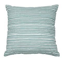 Home Collection Basics - Aqua striped canvas cushion