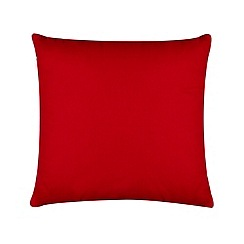 Home Collection Basics - Red cotton canvas cushion