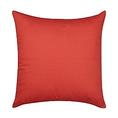 Home Collection Basics - Orange cotton canvas cushion
