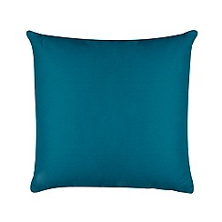 Home Collection Basics - Turquoise cotton canvas cushion