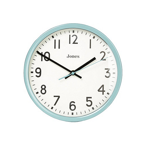 Jones - Metal teal classic wall clock