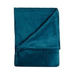 Home Collection Basics - Turquoise fleece throw