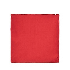 Home Collection Basics - Red plain textured cushion