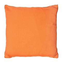 Home Collection Basics - Orange plain textured cushion
