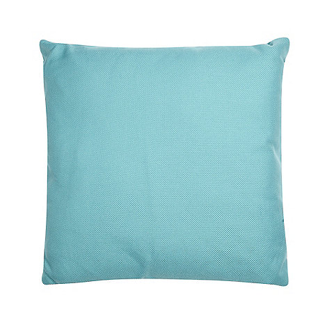 Home Collection Basics - Turquoise plain textured cushion