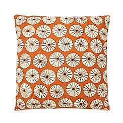 Home Collection Basics - Orange dandelion print cushion