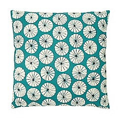 Home Collection Basics - Turquoise dandelion print cushion