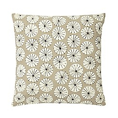 Home Collection Basics - Natural dandelion print cushion