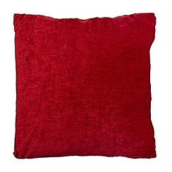 Home Collection - Red chenille cushion