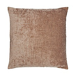 Home Collection - Light brown chenille cushion