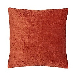 Home Collection - Dark orange chenille cushion