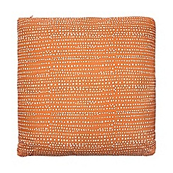 Debenhams - Orange polkadot print cushion