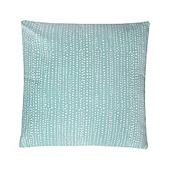 Debenhams - Turquoise polka dot print cushion