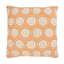 Home Collection Basics - Orange textured circle print cushion