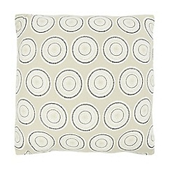 Home Collection Basics - Grey textured circle print cushion