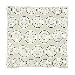 Home Collection Basics - Grey textured circle print cushion