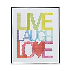 Home Collection Basics - Multi-coloured 'Live Laugh Love' wall art