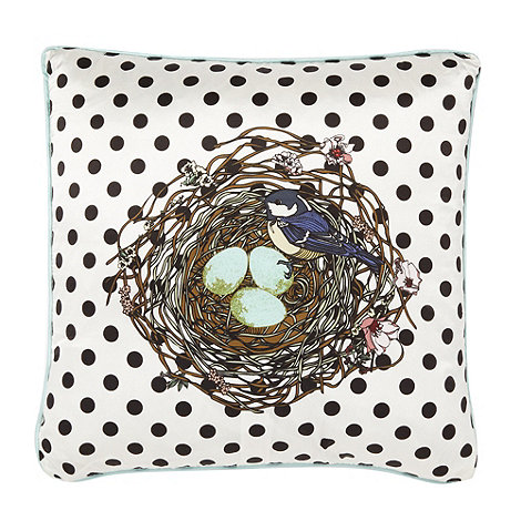 Vicki Elizabeth/EDITION - Designer black spotted bird in nest cushion
