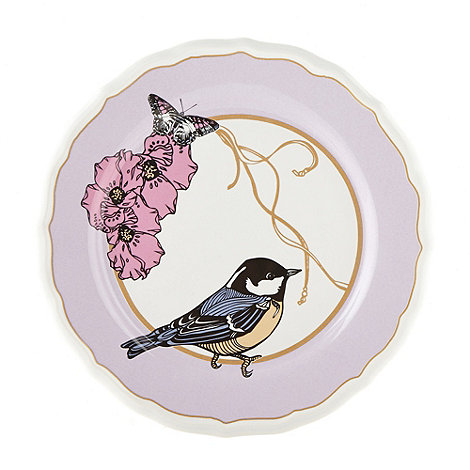 null - Decorative bird print wall hanging plate