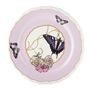 Decorative butterfly print wall hanging plate