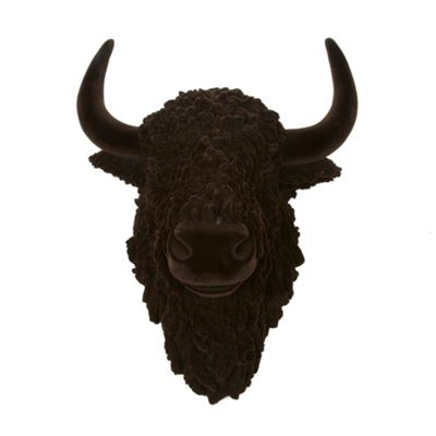 Abigail Ahern/EDITION Designer dark brown bison head - . -