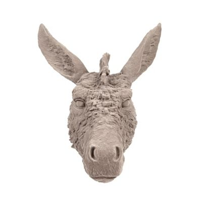 Abigail Ahern/EDITION Designer grey flocked donkey head - . -