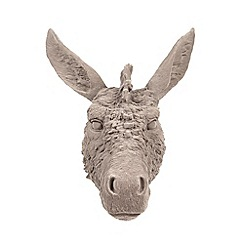 Abigail Ahern/EDITION - Designer grey flocked donkey head