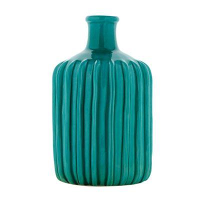 Abigail Ahern/EDITION Designer turquoise ridged ceramic - . -