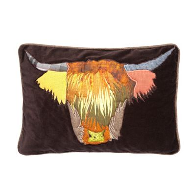 Abigail Ahern/EDITION Designer chocolate velour cow applique - . -