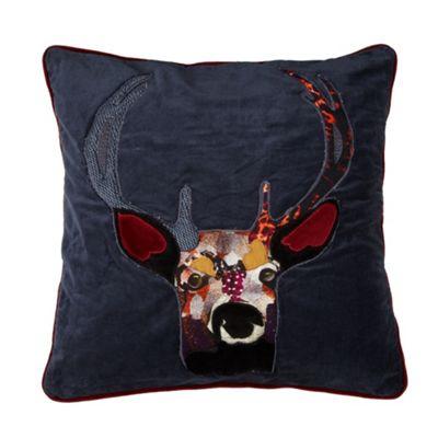 Abigail Ahern/EDITION Designer blue patchwork stag - . -