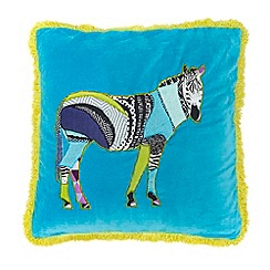 Abigail Ahern/EDITION - Blue zebra cushion