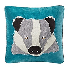 Abigail Ahern/EDITION - Dark turquoise badger cushion