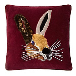 Abigail Ahern/EDITION - Dark red hare cushion
