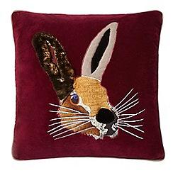 Abigail Ahern/EDITION - Dark red hare cushion