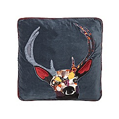 Abigail Ahern/EDITION - Navy stag cushion