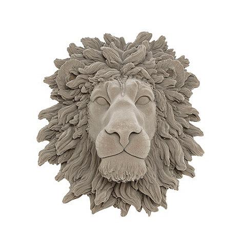 abigail-ahern-edition - Grey lion head wall art