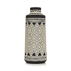 Abigail Ahern/EDITION - Dark grey diamond print vase