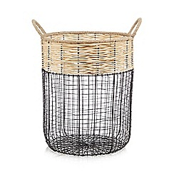 Home Collection - Natural and black wicker basket