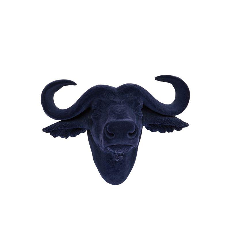Abigail Ahern/EDITION - Blue 'Bobby The Buffalo' Head Wall Art