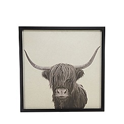 Abigail Ahern/EDITION - Black Highland Cow framed wall art
