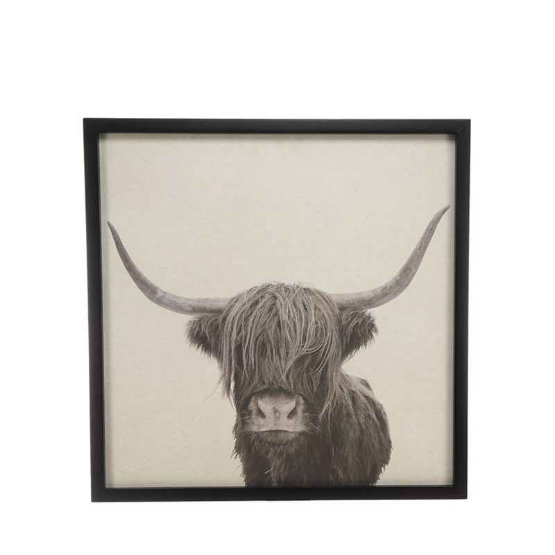 Abigail Ahern/EDITION - Black Highland Cow Framed Wall Art