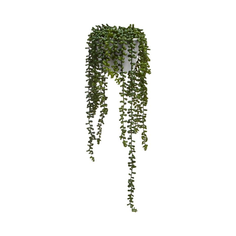 Abigail Ahern/EDITION - Artificial String Of Pearls Plant In Concrete Pot