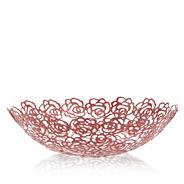 Designer red cut out rose bowl