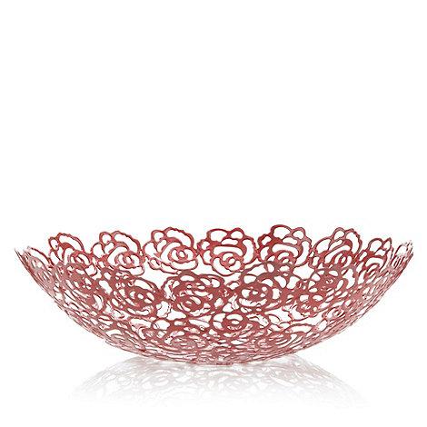 RJR.John Rocha - Designer red cut out rose bowl