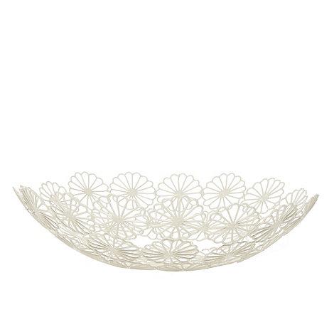RJR.John Rocha - Designer cream wire daisy bowl