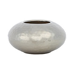 RJR.John Rocha - Designer small silver hammered candle