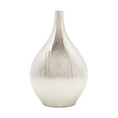 RJR.John Rocha - Designer silver textured wide bottle vase