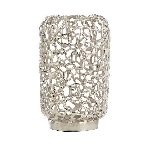 RJR.John Rocha - Silver coral shaped pillar candle holder