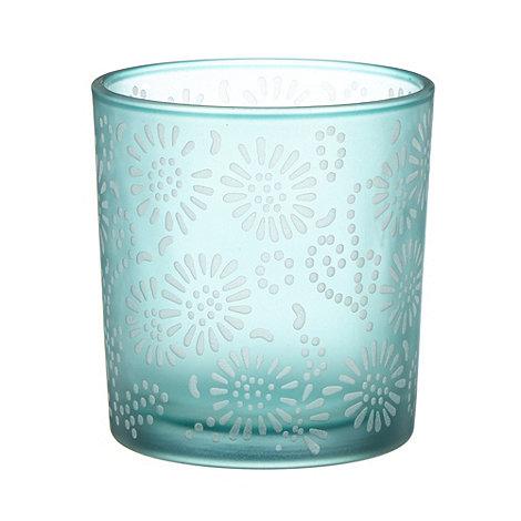RJR.John Rocha - Designer aqua glass tea light holder